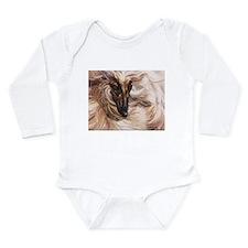 Afghan Hound Long Sleeve Infant Bodysuit