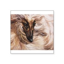 "Afghan Hound Square Sticker 3"" x 3"""