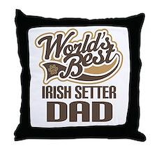 Irish Setter Dad Throw Pillow