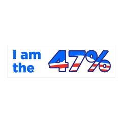 I am the 47% Obama Wall Decal