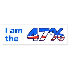 I am the 47% Bumper Sticker Bumper Sticker