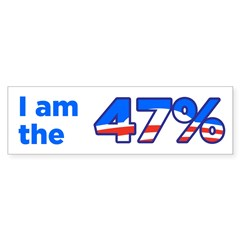 I am the 47% Bumper Bumper Sticker