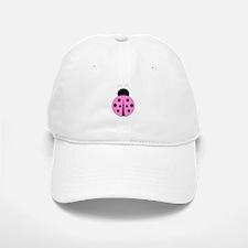 Hot Pink and Black Ladybug Baseball Baseball Cap