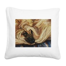 Afghan Dreamer Square Canvas Pillow