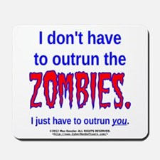 Outrun The Zombies Mousepad