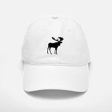Black Moose Baseball Baseball Cap