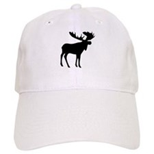 Black Moose Baseball Cap