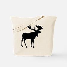Black Moose Tote Bag