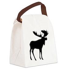 Black Moose Canvas Lunch Bag