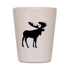 Black Moose Shot Glass