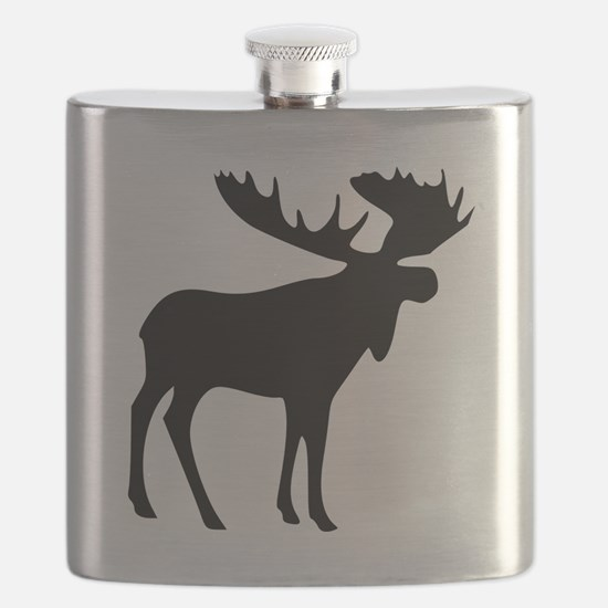 Black Moose Flask