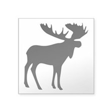 "Black Moose Square Sticker 3"" x 3"""