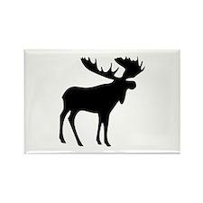 Black Moose Rectangle Magnet (10 pack)