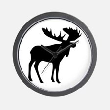 Black Moose Wall Clock