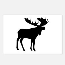 Black Moose Postcards (Package of 8)