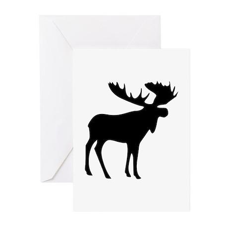 Black Moose Greeting Cards (Pk of 20)