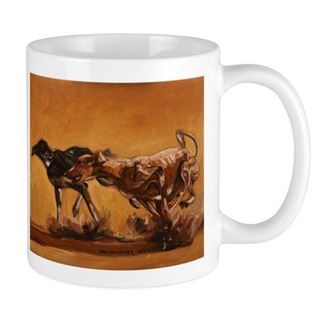 Salukis Running Mug