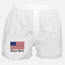 Personalized American Flag Boxer Shorts