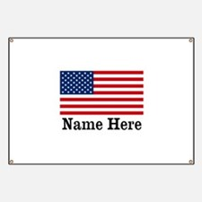 Personalized American Flag Banner