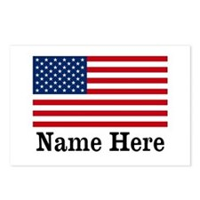 Personalized American Flag Postcards (Package of 8