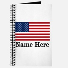 Personalized American Flag Journal