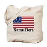 American flag Canvas Totes