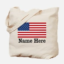 Personalized American Flag Tote Bag