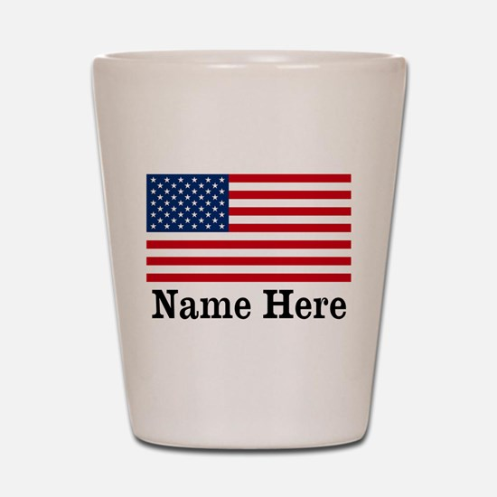 Personalized American Flag Shot Glass