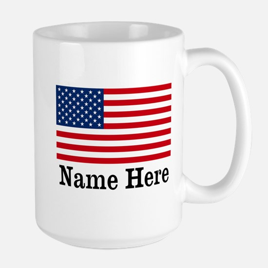 Personalized American Flag Large Mug