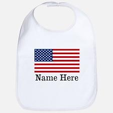 Personalized American Flag Bib