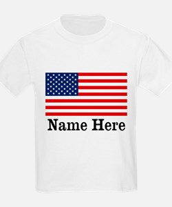 Personalized American Flag T-Shirt