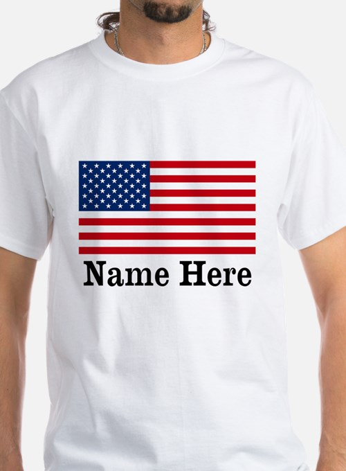 Personalized American Flag Shirt