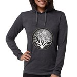 treecircle_grey.png Womens Hooded Shirt