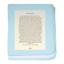 DESIDERATA Wallpaper baby blanket