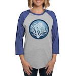 4-treecircle_blue.png Womens Baseball Tee