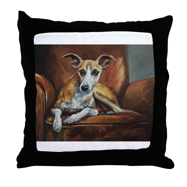Throw Pillow On Chair : Whippet on Chair Throw Pillow by listing-store-72449310