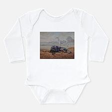 Saluki in the Desert Long Sleeve Infant Bodysuit