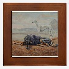 Saluki in the Desert Framed Tile