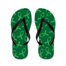 Organ Donor Green Ribbon Awareness Flip Flops