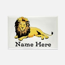 Personalized Lion Rectangle Magnet