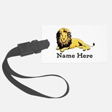 Personalized Lion Luggage Tag