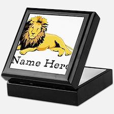 Personalized Lion Keepsake Box