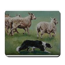 Border Collie on Sheep Mousepad