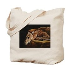 Greyhound Resting Tote Bag