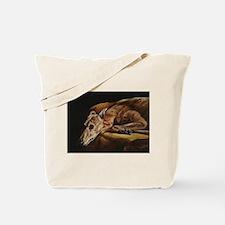 Greyhound Resting Tote Bag