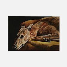 Greyhound Resting Rectangle Magnet