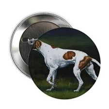 """English Pointerin the Woods 2.25"""" Button"""