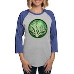 treecircle_green.png Womens Baseball Tee