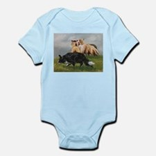 Border Collie and Sheep Infant Bodysuit