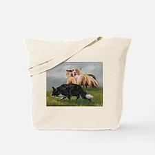 Border Collie and Sheep Tote Bag
